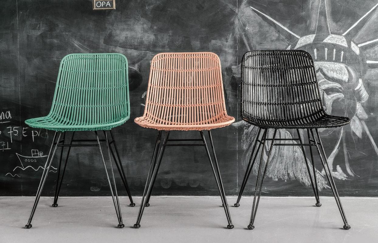 Rotan stoelen voor binnen en buiten for Rotan eettafel stoel