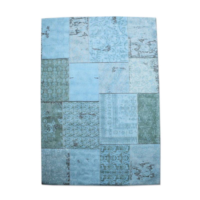 By-Boo Vloerkleed Patchwork Turquoise 300x200 Cm
