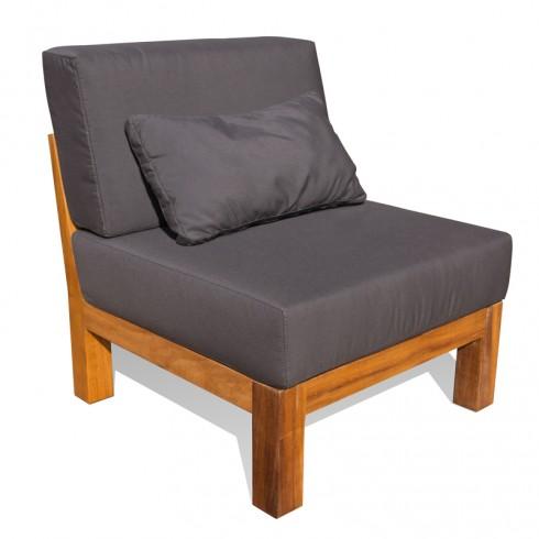 Van Abbevé Loungestoel van Almendrillo FSC Hardhout en Sunbrella kussens