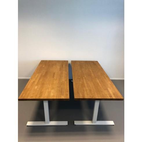 Industrieel in hoogte verstelbaar Zit/Sta Bureau van rubberwood