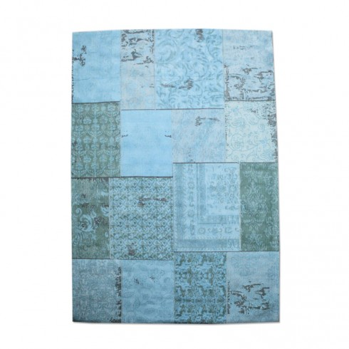 Zooff By-Boo Vloerkleed Patchwork turquoise 300x200cm
