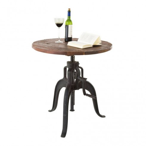 Kare design railway bistro statafel for Table qui monte et qui descend
