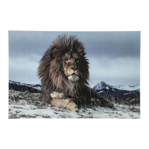 Kare Design Proud Lion foto op glas 120x180cm