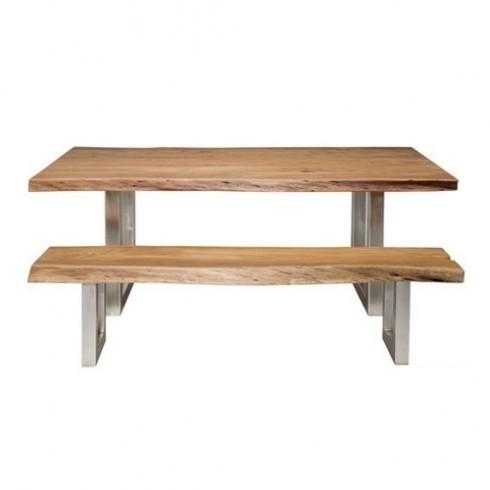 Kare Design Boomstam Tafel Set + 2 Banken