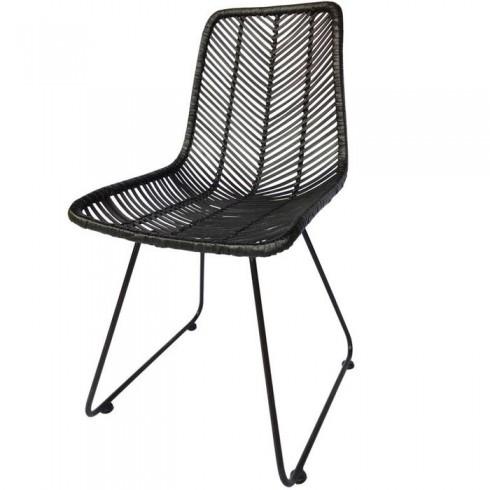 Kare Design Rotan Stoel Ko Lanta black