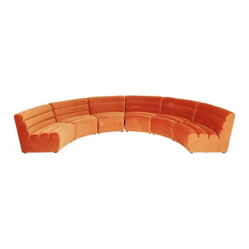 Kare Design Sofa Element Wave Orange - Set