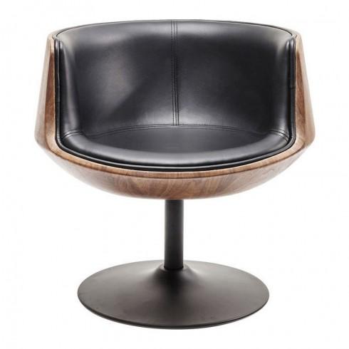 Kare Design Swivel Walnut club armstoel