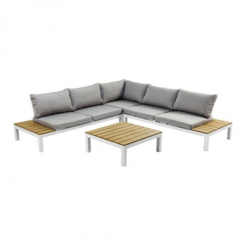 Kare Design loungebank en tuinset wit (4-Pieces)