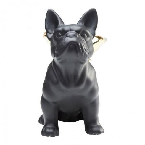 Kare Design Deco beeldje zittende Angel Dog Gold-Black