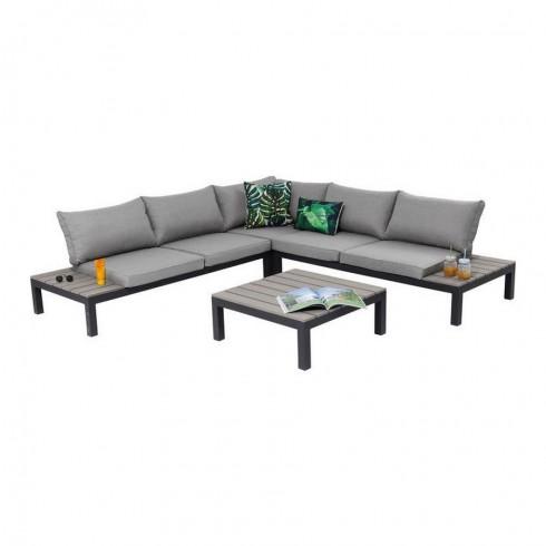 Kare Design loungebank en tuinset zwart (4-Pieces)