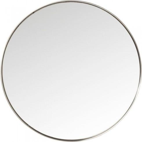 Kare Design Mirror Curve Round Stainless Steel 100cm