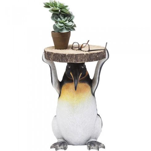 Kare Design Bijzettafel Mr. Penguin Ø33cm