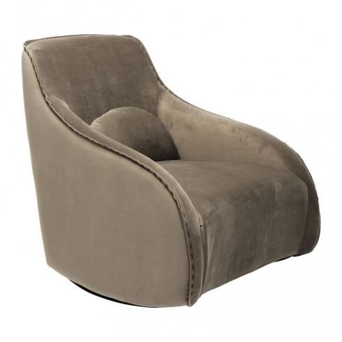 Kare Design Fauteuil Ritmo Velvet Khaki