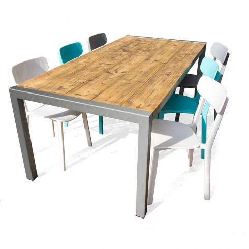 RVS terrastafelset met By-Boo stoelen