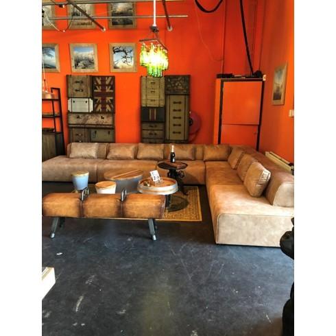 Kare Design Sofa Infinity Antique Ottomane Cognac rechts - 6 elementen