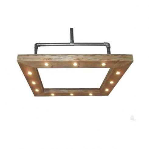 Steigerbuis Steigerhouten Hanglamp