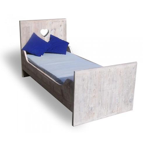 Van Abbevé Eenpersoons Steigerhouten Bed