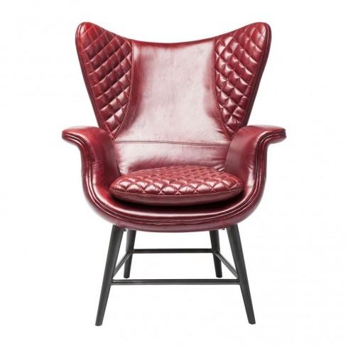 Kare Design Armstoel Tudor Rood Leder