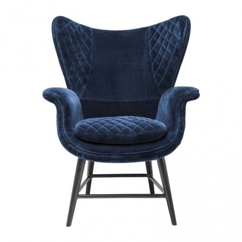 Kare Design Armstoel Tudor Blauw