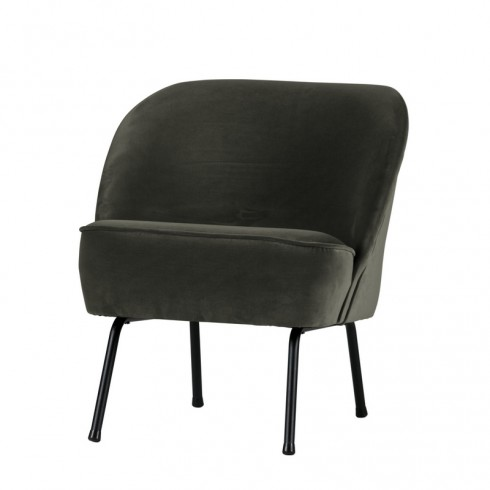 Zooff Be Pure Vogue Fauteuil Fluweel Onyx