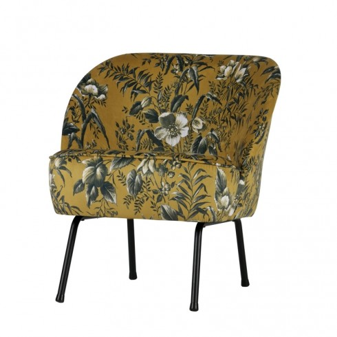 Zooff Be Pure Vogue Fauteuil Fluweel Poppy Mosterd