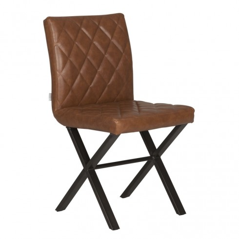 D-Bodhi Alabama eetkamerstoel - Recycled Leather Cognac