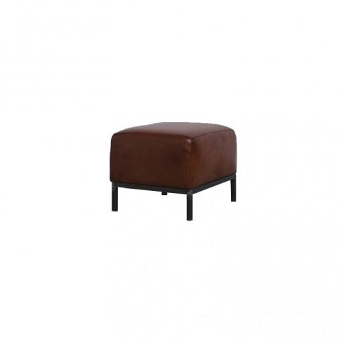 Zooff Designs Coco Leren Hocker Cognac