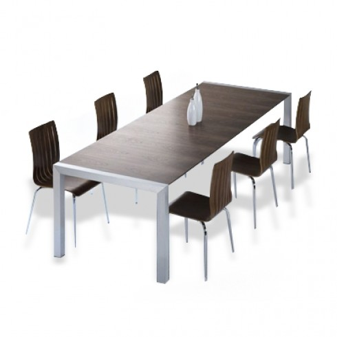 Zooff Designs Uitschuifbare Eettafel walnoot met Winschoten Stoelen