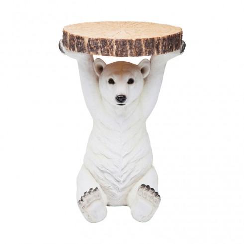 Zooff Kare Design Bijzettafel ijsbeer Ø37cm