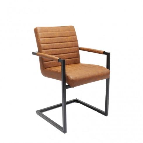Zooff Kare Design Cantilever Armstoel Barone Bruin