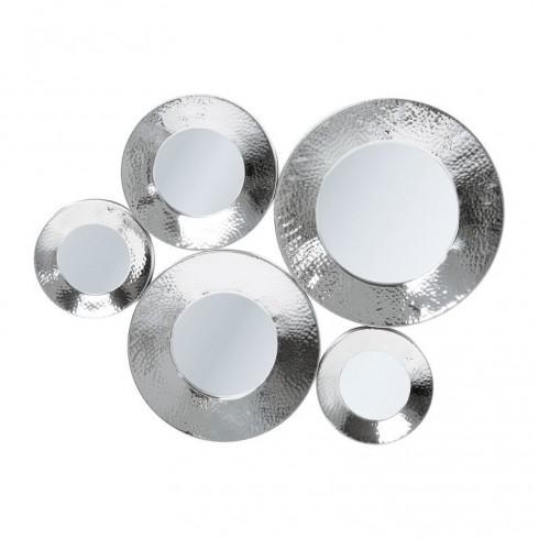 Zooff Kare Design Circoli Cinque Spiegel Silver