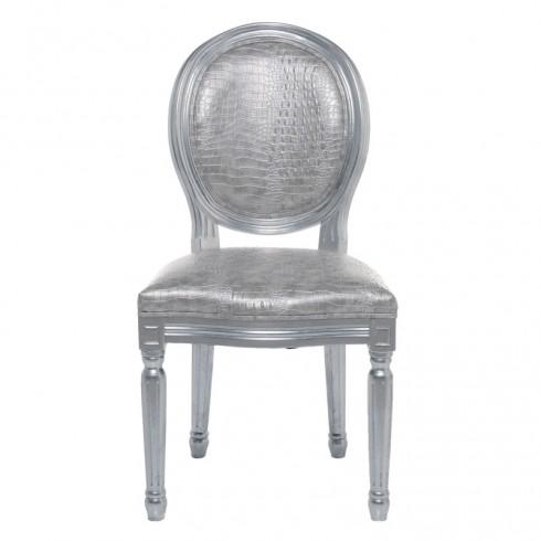 Kare Design Louis Croco Antique Stoel Zilver