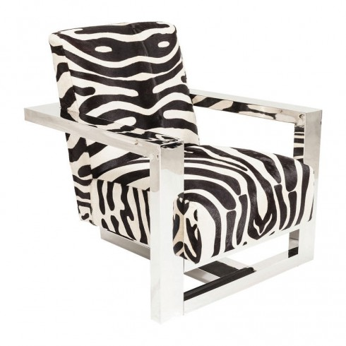 Zooff Kare Design Sessel Wildlife Zebra