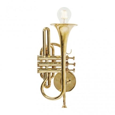 Zooff Kare Design Wandlamp Trumpet Jazz Goud