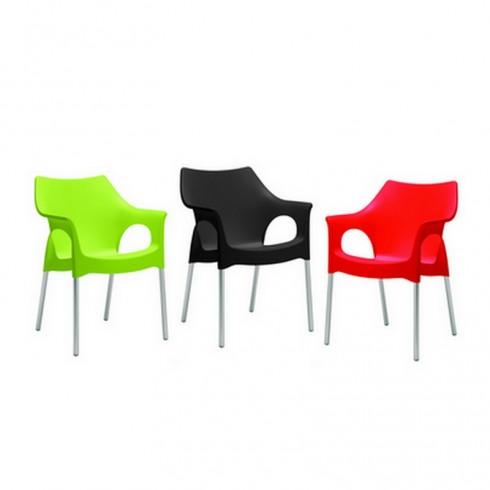 Scab Design Ola stoel pistache, antraciet, rood