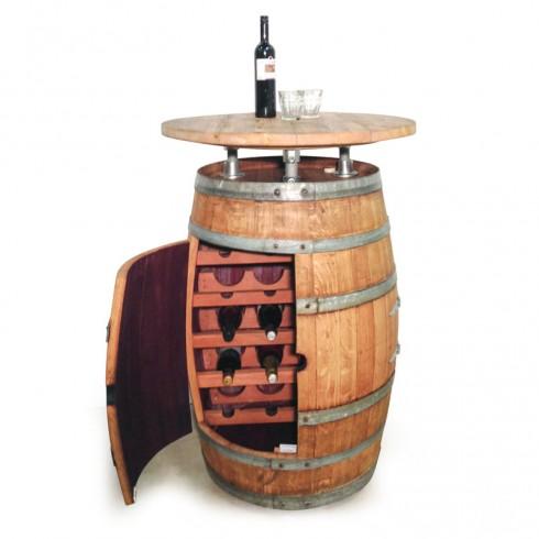 Wijnvaten Statafel Wijnkast combi half open deur