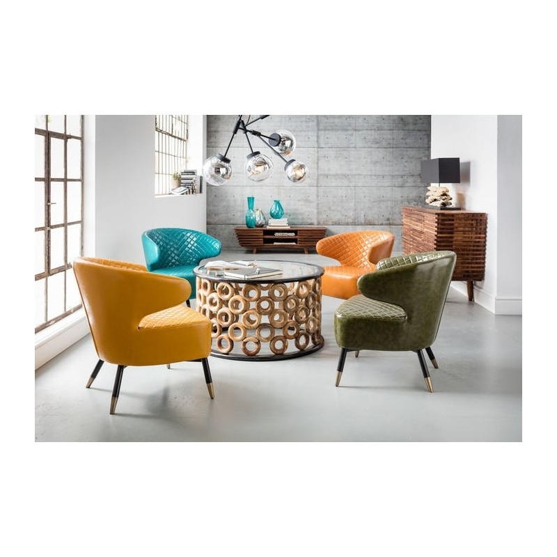 Cocktail Stoel Met Leuning.Kare Design Cocktail Fauteuil Oranje Zooff Nl