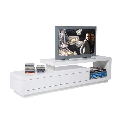 Tv Meubel Design.Kare Design White Club Tv Meubel Loft 2 Lades Zooff Nl