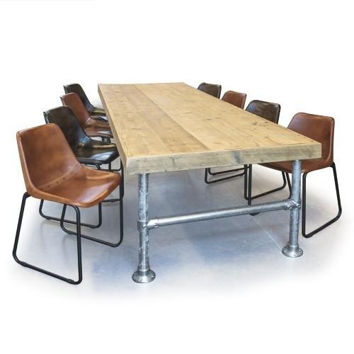 Eet Tafel Met 8 Stoelen.Van Abbeve Steigerhouten Eettafel Met Steigerbuis Frame Inclusief