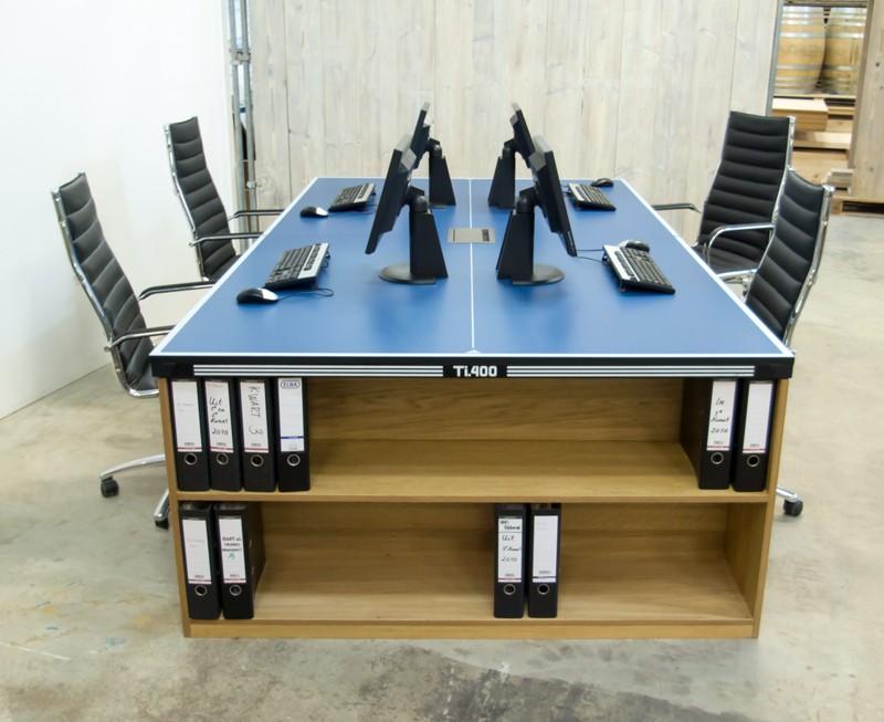 Houten Ping Pong Tafel.Van Abbeve Tafeltennis Vergadertafel Kantoorset
