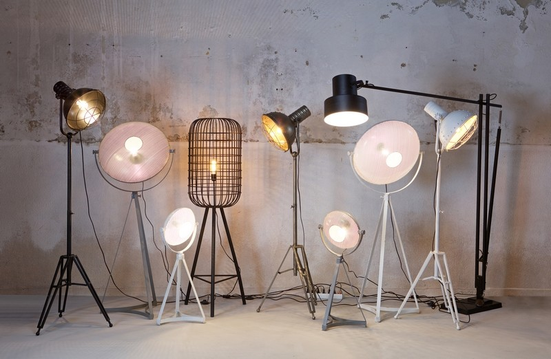 Staande lamp modern industrie look stoere lampen