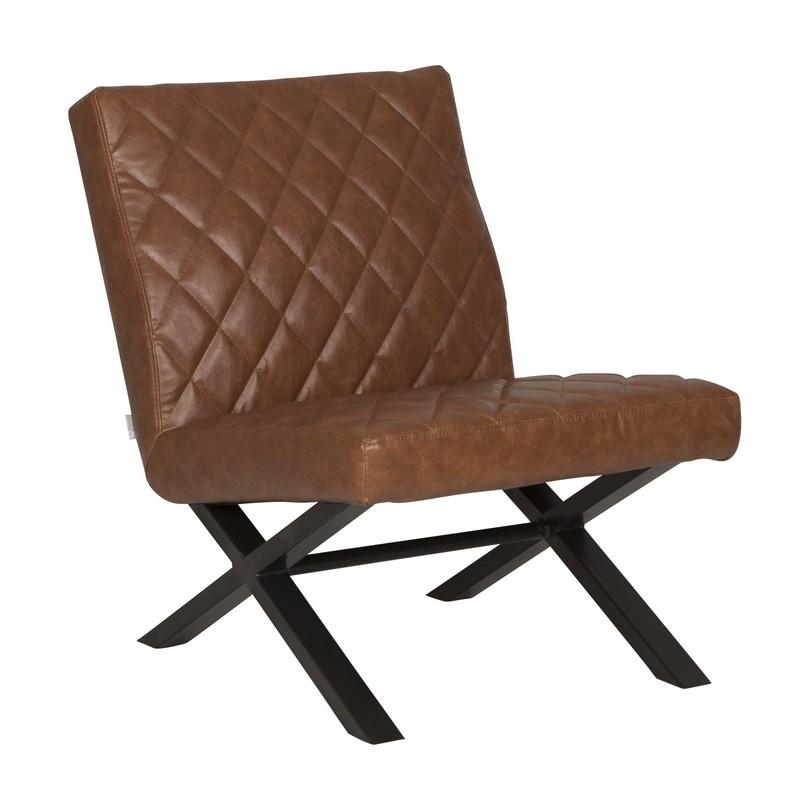 D bodhi alabama fauteuil recycled leather cognac stoel for Eettafel stoelen cognac