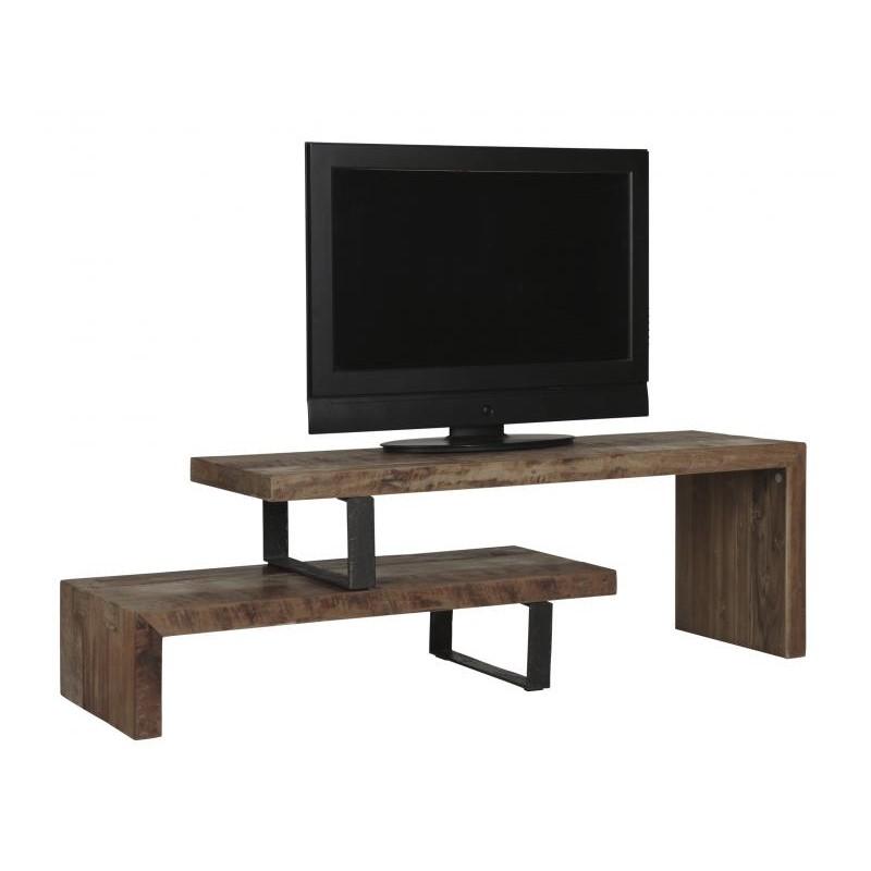D bodhi soul tv meubel meubels tv kast houtenkast gerecycled teakhout 120cm - Uitschuifbare kast ...
