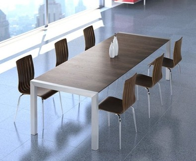 Design Eettafel En Stoelen.Zooff Designs Uitschuifbare Eettafel Walnoot Met Winschoten Stoelen