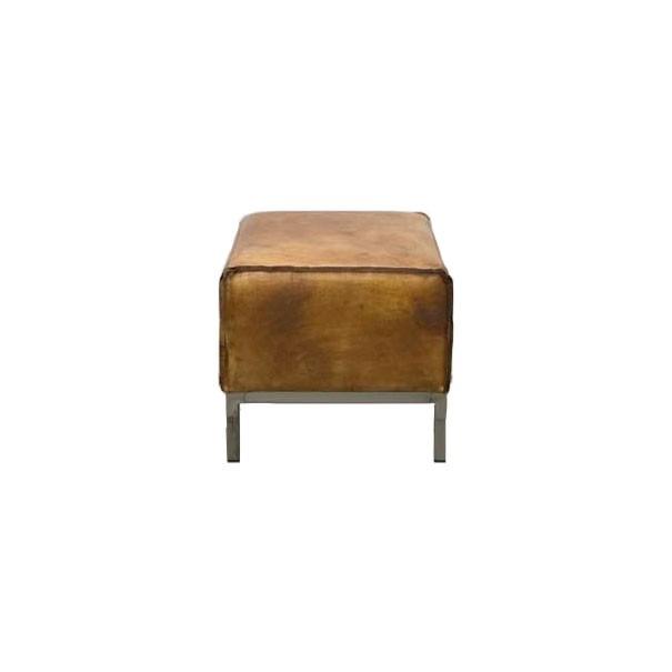 zooff designs vintage leren hocker. Black Bedroom Furniture Sets. Home Design Ideas