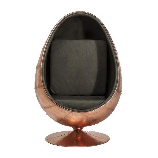 Egg Stoel Hangend.The Egg Stoel Hkliving Voor Vtwonen Egg Chair Rotan 100 Cm Blauw