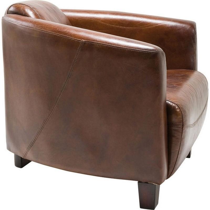 Leren Lounge Fauteuil.Kare Design Armstoel Cigar Lounge Bruin Fauteuil Loungestoel