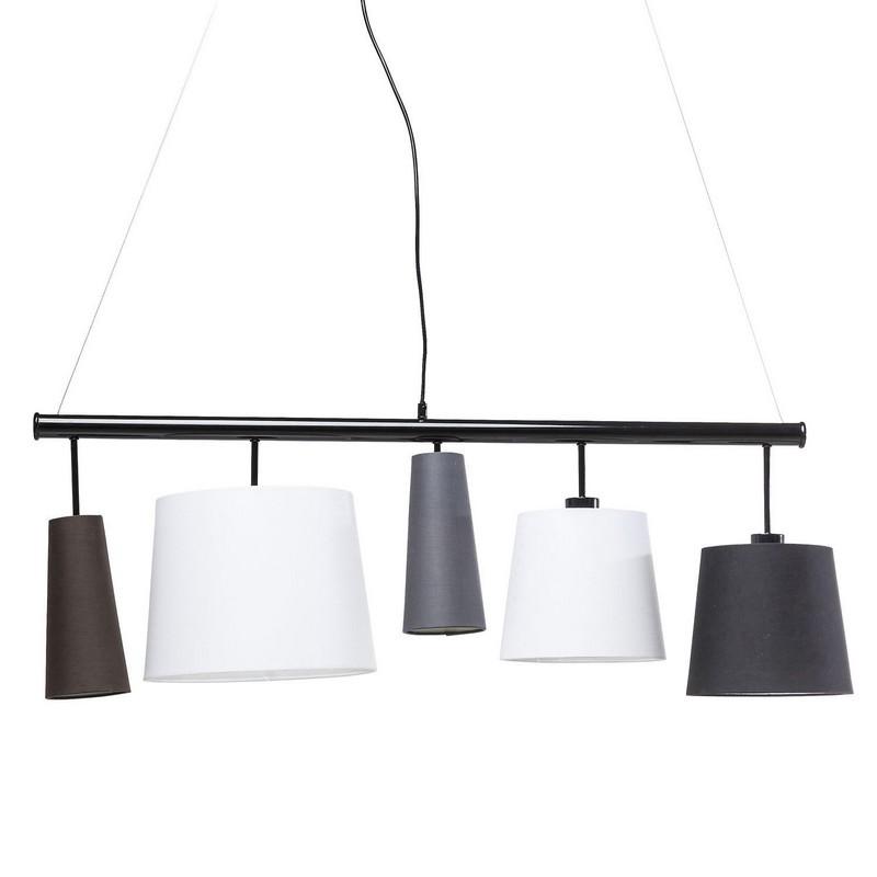 kare design parecchi hanglamp lamp woonkamerlamp eetkamerlamp 100cm zwart. Black Bedroom Furniture Sets. Home Design Ideas