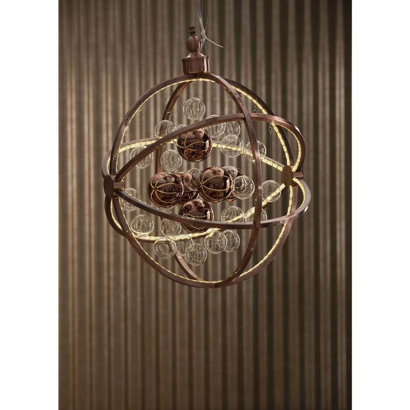 kare design universum koper led pendant hanglamp. Black Bedroom Furniture Sets. Home Design Ideas