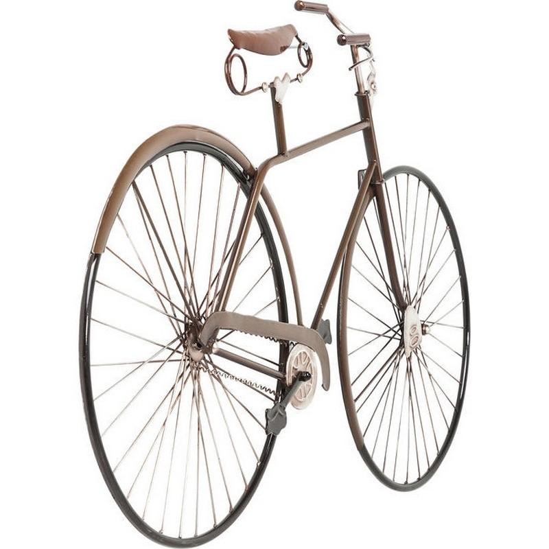 Kare design muur decoratie vintage bike wall decoration fiets deco walldeco bruin - Dekoration fahrrad ...